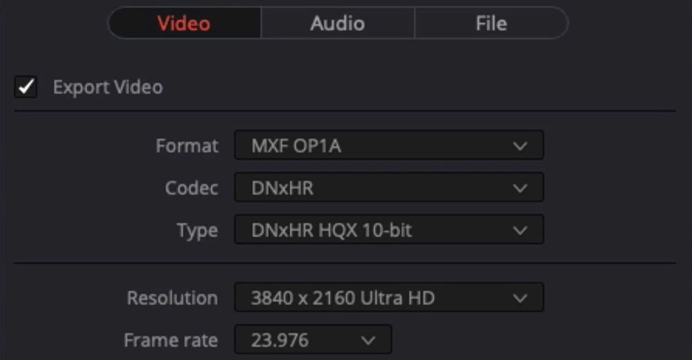 The difference between DNxHR and ProRes codecs