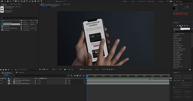 Screen Replacement in After Effects & Mocha