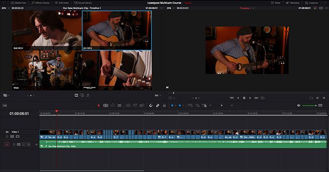 Multicam Editing in DaVinci Resolve